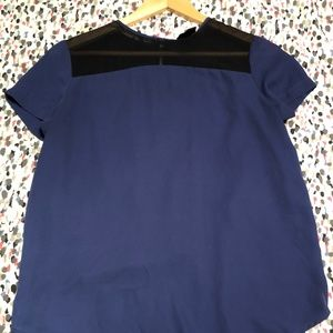 Mossimo Blue and Black Blouse